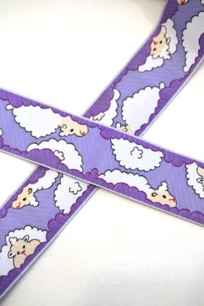 Wolkenschafe, violett, Webband