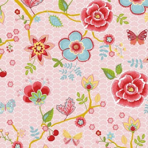 Happy Garden Blumenzweige rosa, Baumwoll-Popeline bei 60° waschbar
