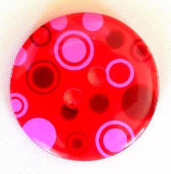 Dots, rot, Knopf