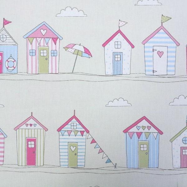 Dekostoff Beach Huts pink