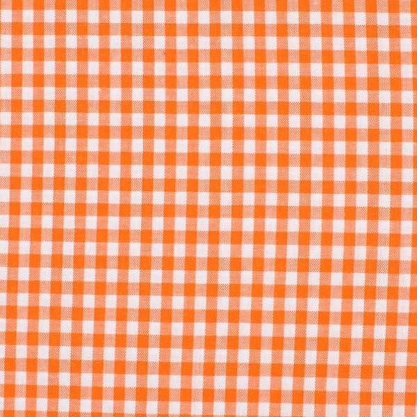 Vichykaro, mittel, orange-weiß kariert