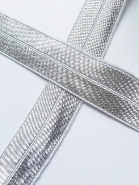 Glitzerfalzgummi, silber-silber
