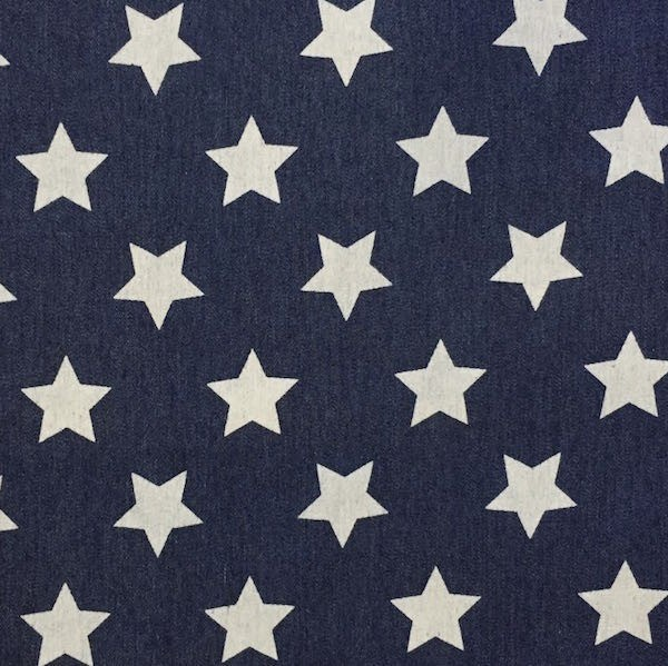 Jeans große Sterne dunkelblau