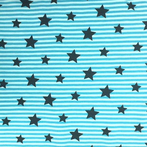 Stars & Stripes türkis, Jersey