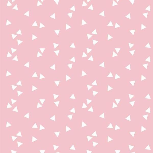 Lili Triangels, weiß auf rosa, Webstoff, waschbar bei 60°