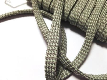 Hoodieband, 10 mm, grau mit mint