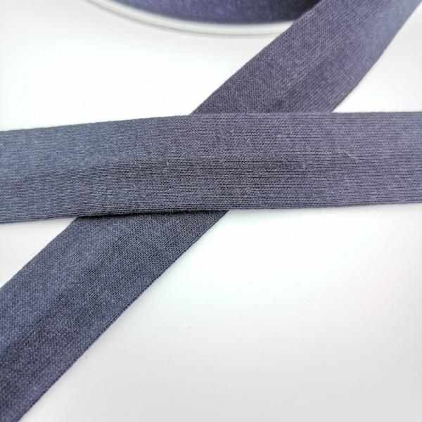 Baumwolljersey-Schrägband ohne Elasthan, dunkelblau