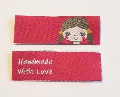 Handmade Mädchentraum, pink, Einnäher