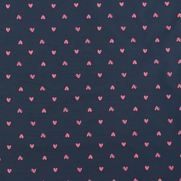 London, wasserabweisend, Herzen pink auf dunkelblau