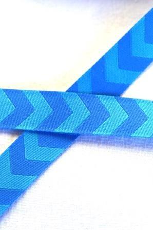 Chevron, blau-blau, Webband