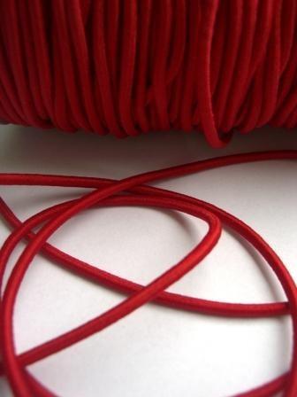 Gummischnur, 3 mm, rot