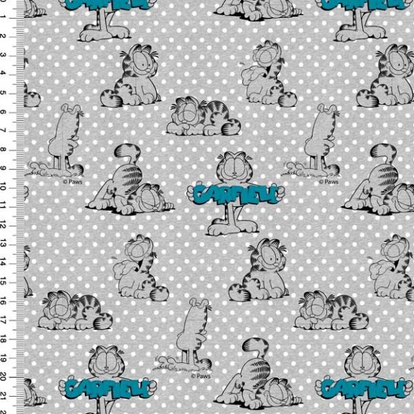 Garfield Tonal Dots grau/blau, Bio-Jersey