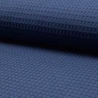 Waffelpique, dunkles jeansblau