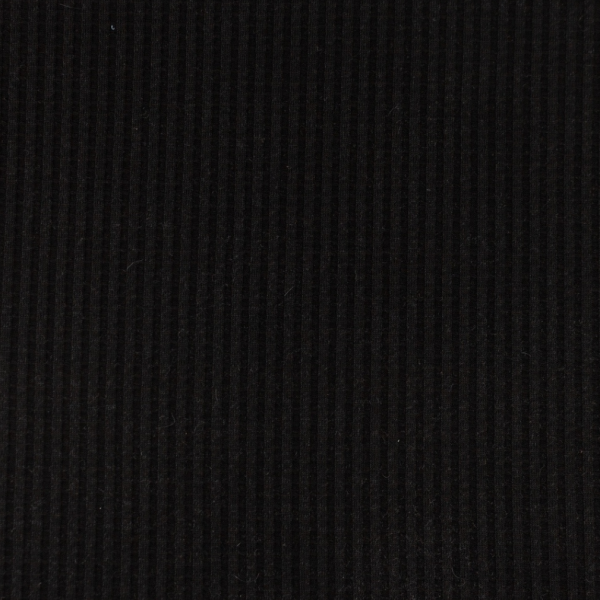 Waffel-Jersey, schwarz