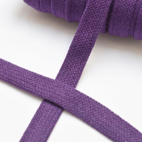 flache Kordel, 15 mm, violett