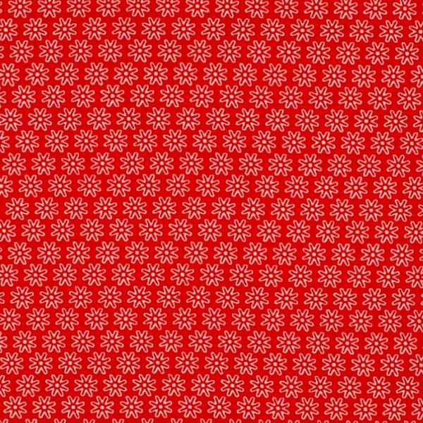 Miri kleine Blüten rot, Jersey