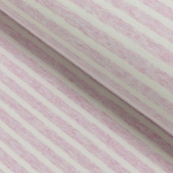 Winny, Soft-Streifenjersey rosa-meliert-weiß