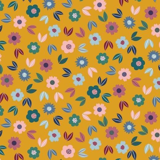 Frühlingsblumen auf senf, Sweat
