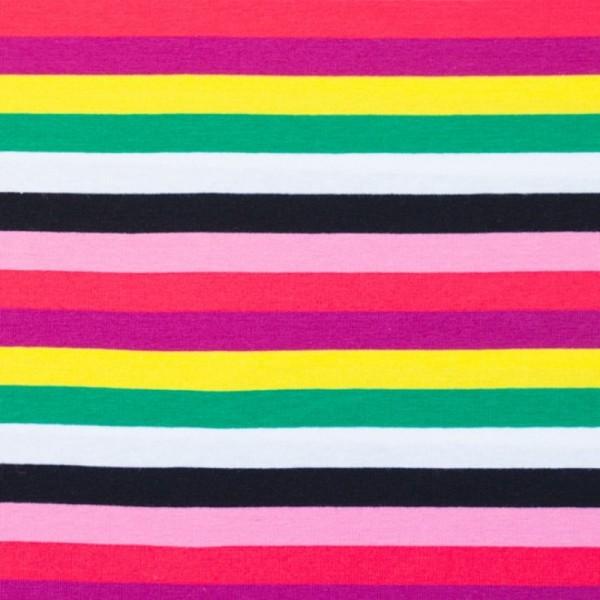 Multicolor Streifen pink-gelb-grün, Jersey