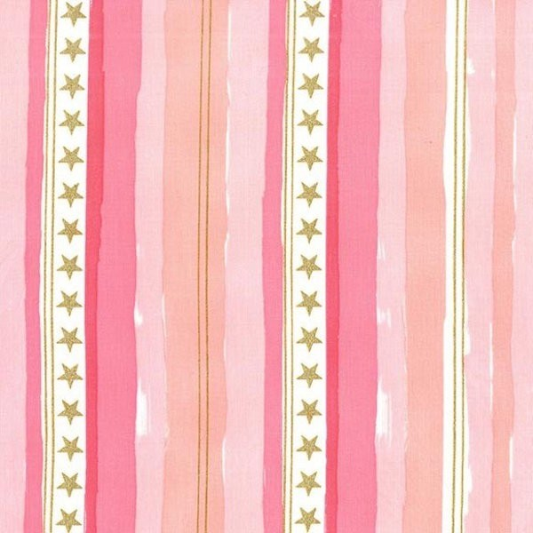 Michael Miller, Magic Stars And Stripes, pink