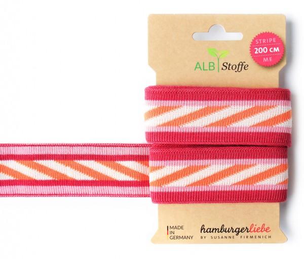 Stripe Me XXL Band, orange-pink
