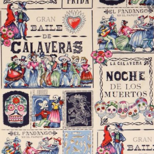 A. Henry, Baile de Calaveras, Baumwollstoff