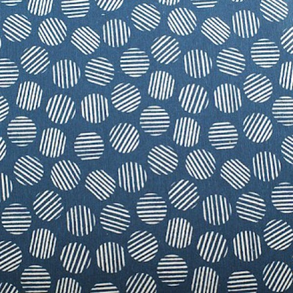 Ralf Dekostoff, Kreise auf jeansblau
