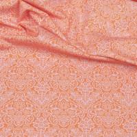 Hilco Hilde Ornamente orange, Popeline