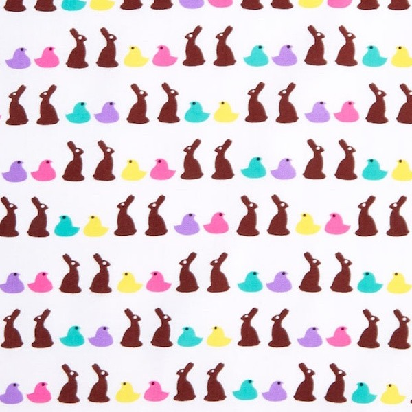 Michael Miller, Bunny Bites weiß, Webstoff