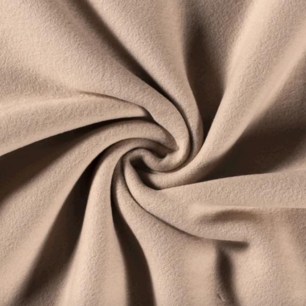 Sandy, 100% Baumwollfleece sand