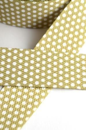 Gurtband, Punkte oliv