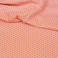 Hilco Hilde Miniblumen orange, Popeline