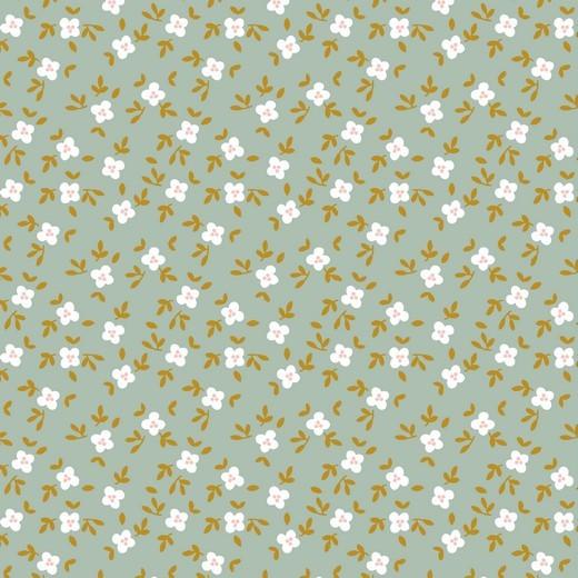 Digitaldruck Cute Goose Blümchen mint, Bio-Jersey