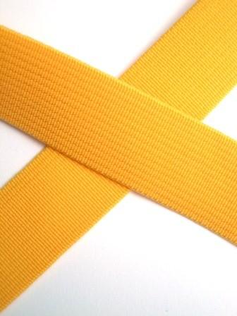 Flachgummi, gelb, 20 mm