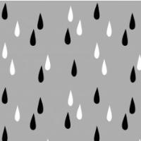 Ropina, Regentropfen auf grau, Bio-Jersey
