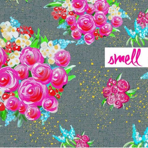 lillestoff, Smell of Flowers grau, Bio-Jersey