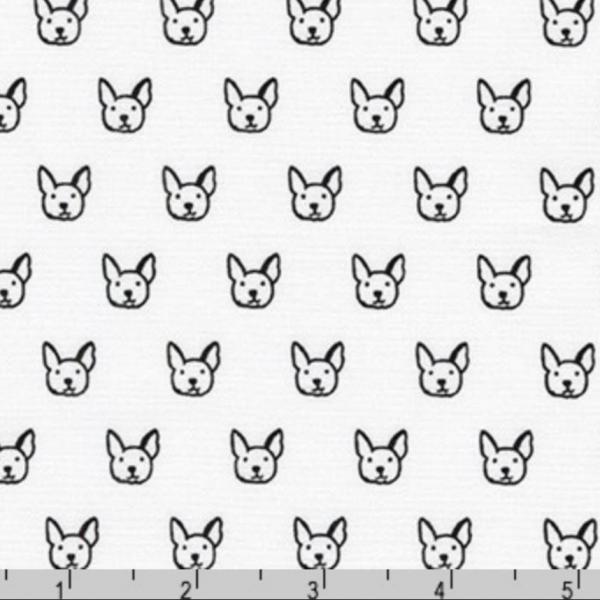 Robert Kaufmann Dogs schwarz auf weiß, Baumwollstoff