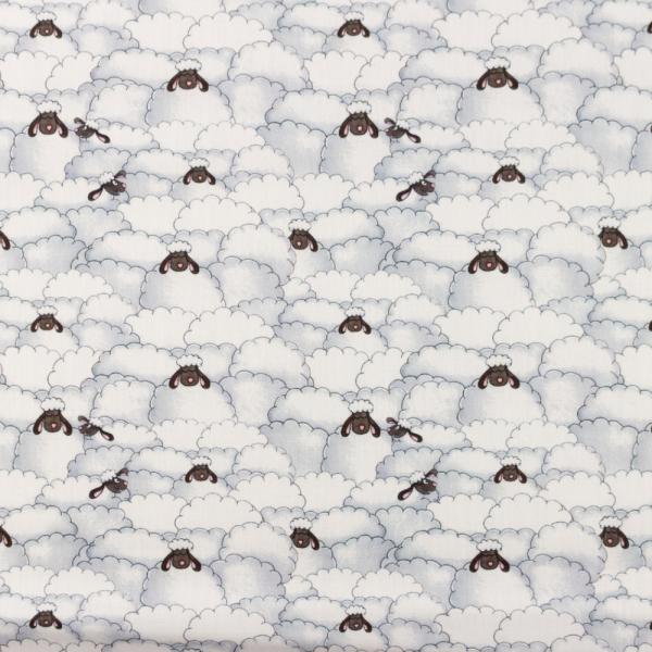 Baumwollpopeline Digitaldruck Lustige Schafe