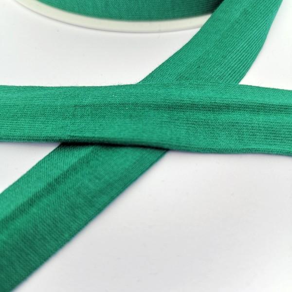 Baumwolljersey-Schrägband mit Elasthan, dunkelgrün