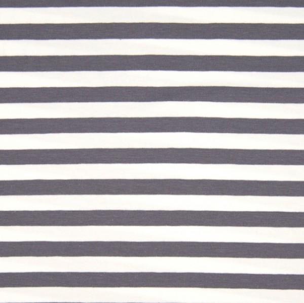 Valentin Streifenjersey breit, grau-weiß