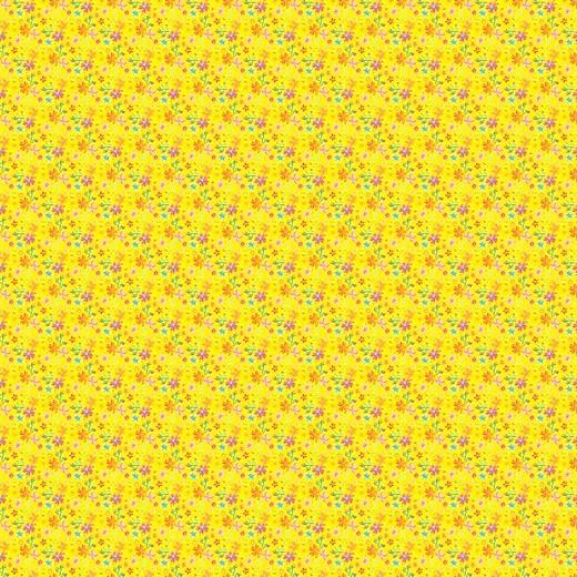 Catalina Flowers gelb, Baumwolllstoff, waschbar bei 60°