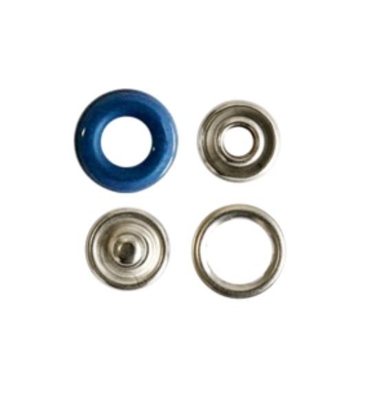 Druckknopf, Ring royalblau, 12 mm