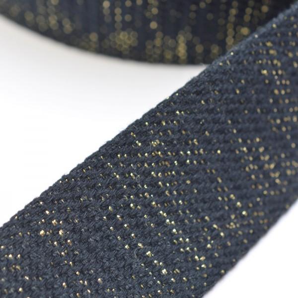 Gurtband, schwarz-gold lurex