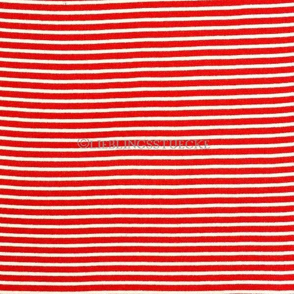 Felix Ringelbündchen weiß auf rot gestreift