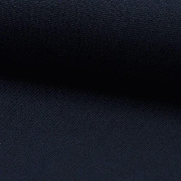 Glattes Bündchen dunkelblau