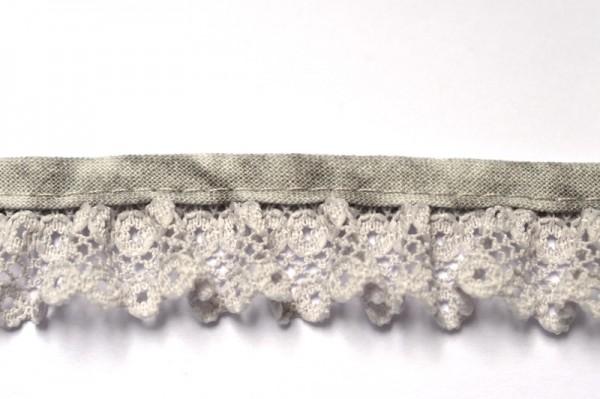 Netzspitze, grau, 20 mm