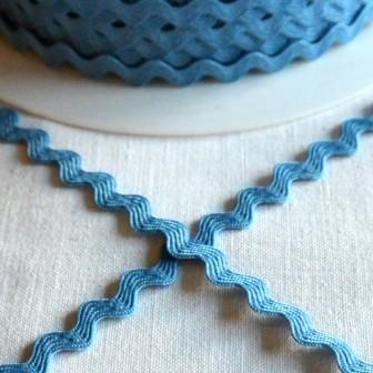 Zackenlitze 8 mm, taubenblau