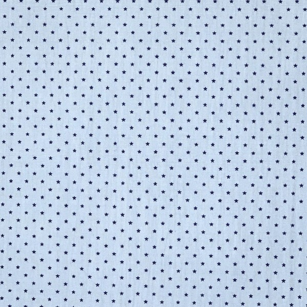Fanny, Mini Sternchen royalblau auf hellblau, Popeline