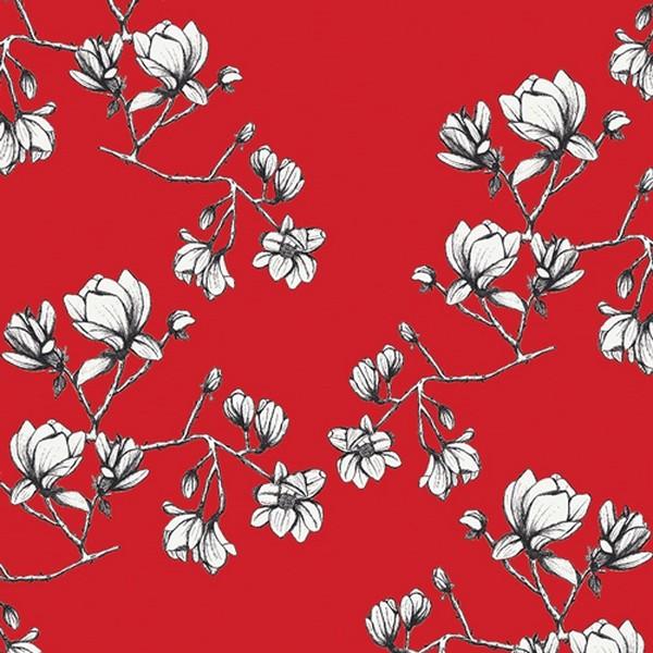 Art Gallery Fusion Silkroad Magnolien rot, Jersey