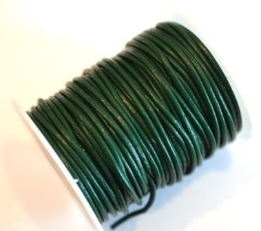 Kunstlederschnur, waldgrün